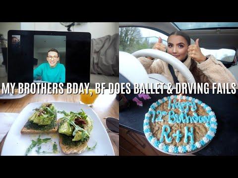 Weekly Vlog 29- MY BROTHERS BDAY, BF DOES BALLET & DRIVING FAILS | Adina May