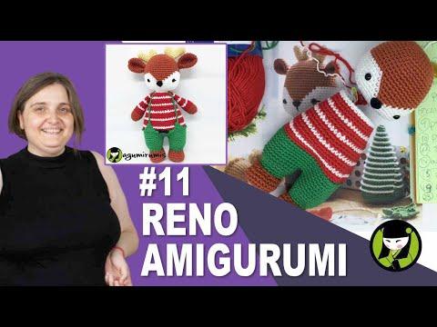 RENO NAVIDEÑO AMIGURUMI 11 jersey para reno a crochet