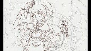コピック作品の製作過程の解説01(下書き→ペン入れ)1/2 thumbnail