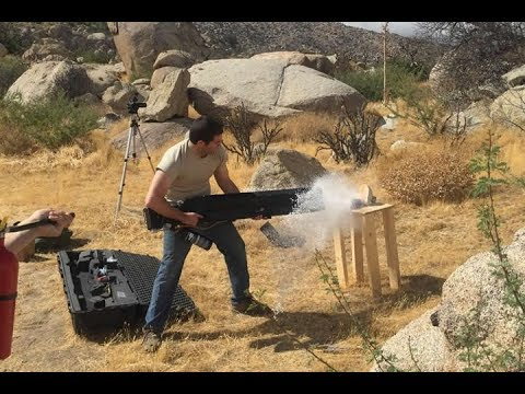 Dude builds world's first semi-automatic portable railgun, uses it to kill a laptop