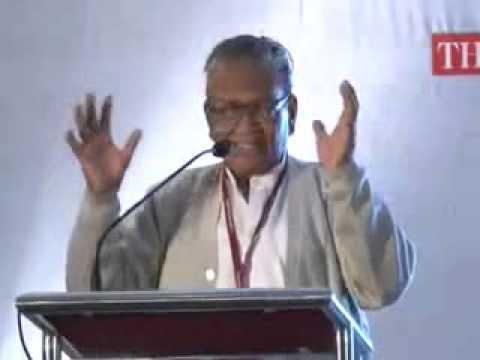 Prof. Manoj Das's speech  in Think Literature 2012