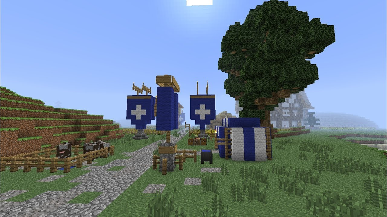 Minecraft Medieval Banners Flags And Roads Part 110