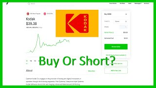 Should You Buy Or Short Kodak Stock?  Analysis + Target  - Robinhood Investing