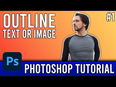 How To Outline An Image EASILY! - Photoshop CS6 - Tutorial #1