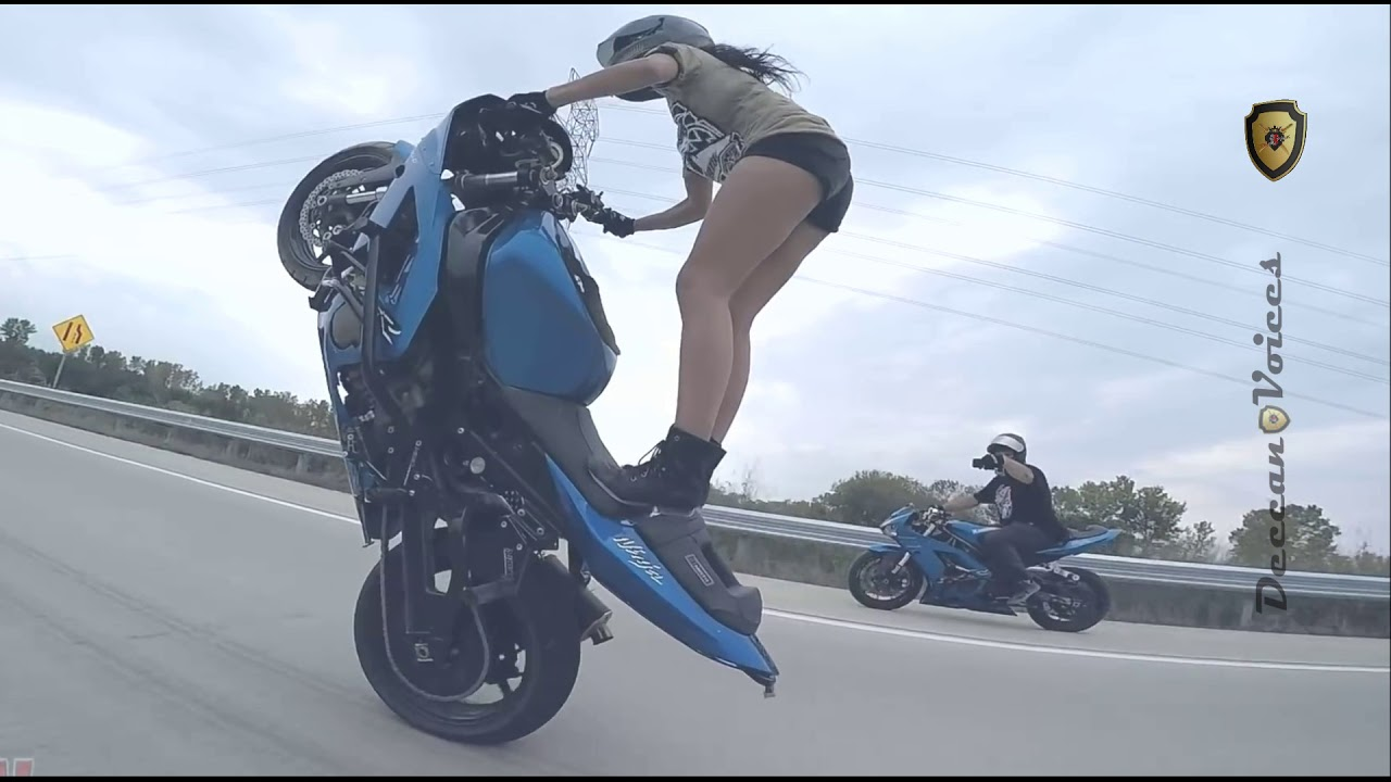 Lady With Super Bike Deccan Voices