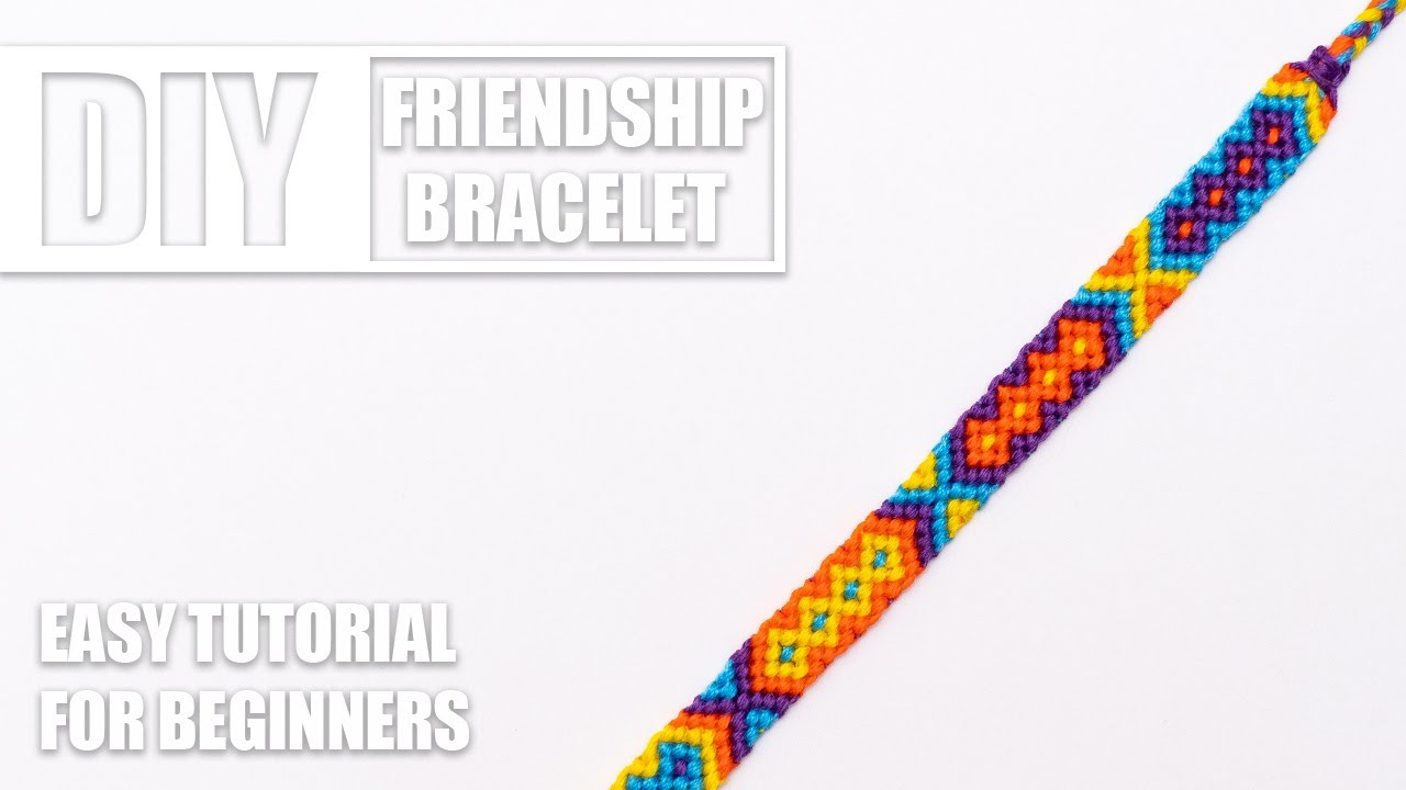 Colorful friendship bracelet diamond pattern wrist cuff bracelet unisex macrame adult jewelry two rows of diamonds 16,5 cm 6,5 inches