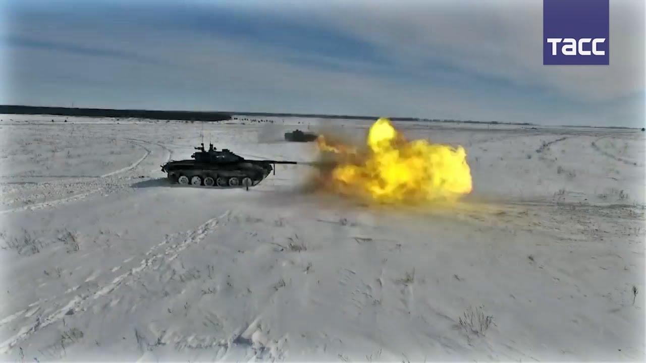 Кадры учений мотострелков в Воронежской области
