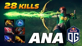 ANA WR 28 KILLS - Dota 2 Pro Gameplay