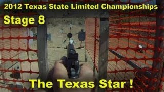 Shooting The Texas Star Spinning Plate Rack - Texas State Limited 2012 (stage 8)