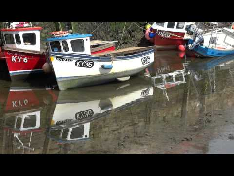 Fishing Boat Reflections Harbour St Andrews Fife Scotland