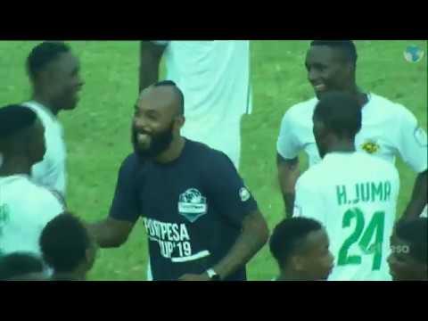 Kariobangi Sharks FC celebrates after beating Bandari FC in the Sportpesa Cup Finals 2019