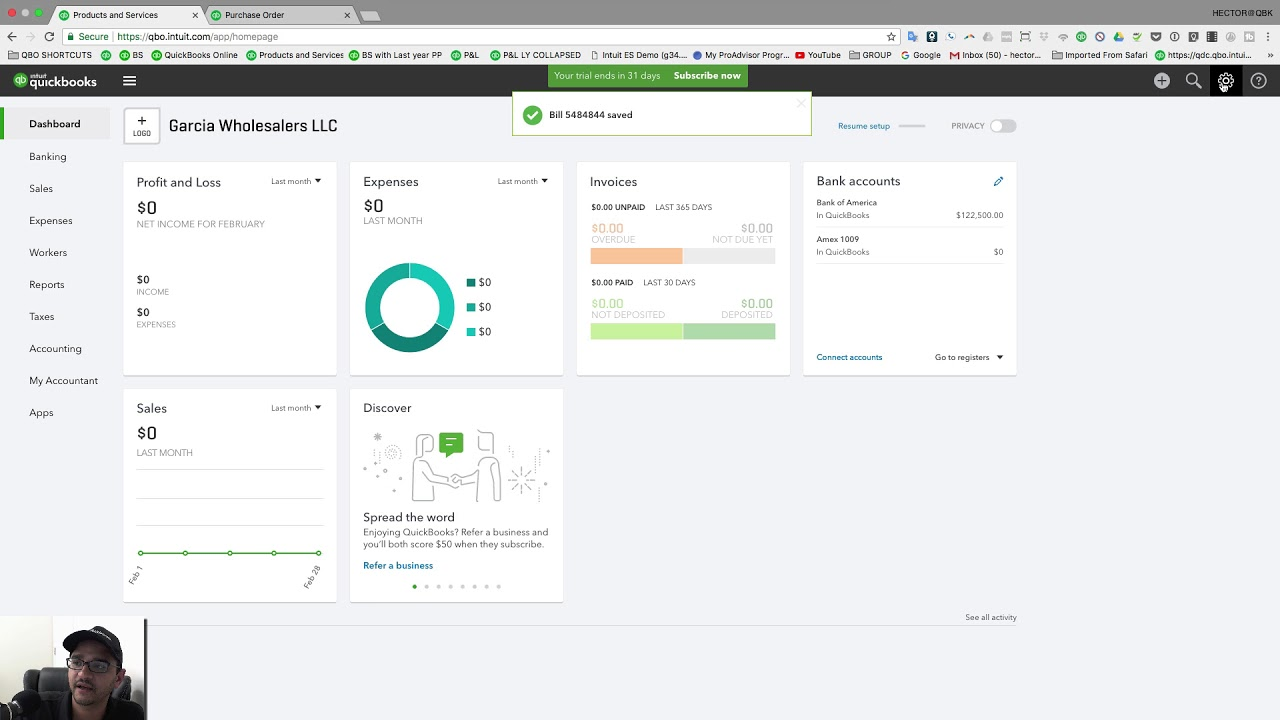 basic inventory workflow in quickbooks online youtube
