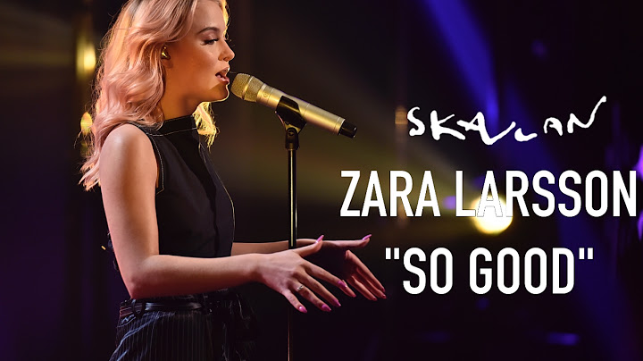 zara larsson so good live on skavlan  svtnrkskavlan