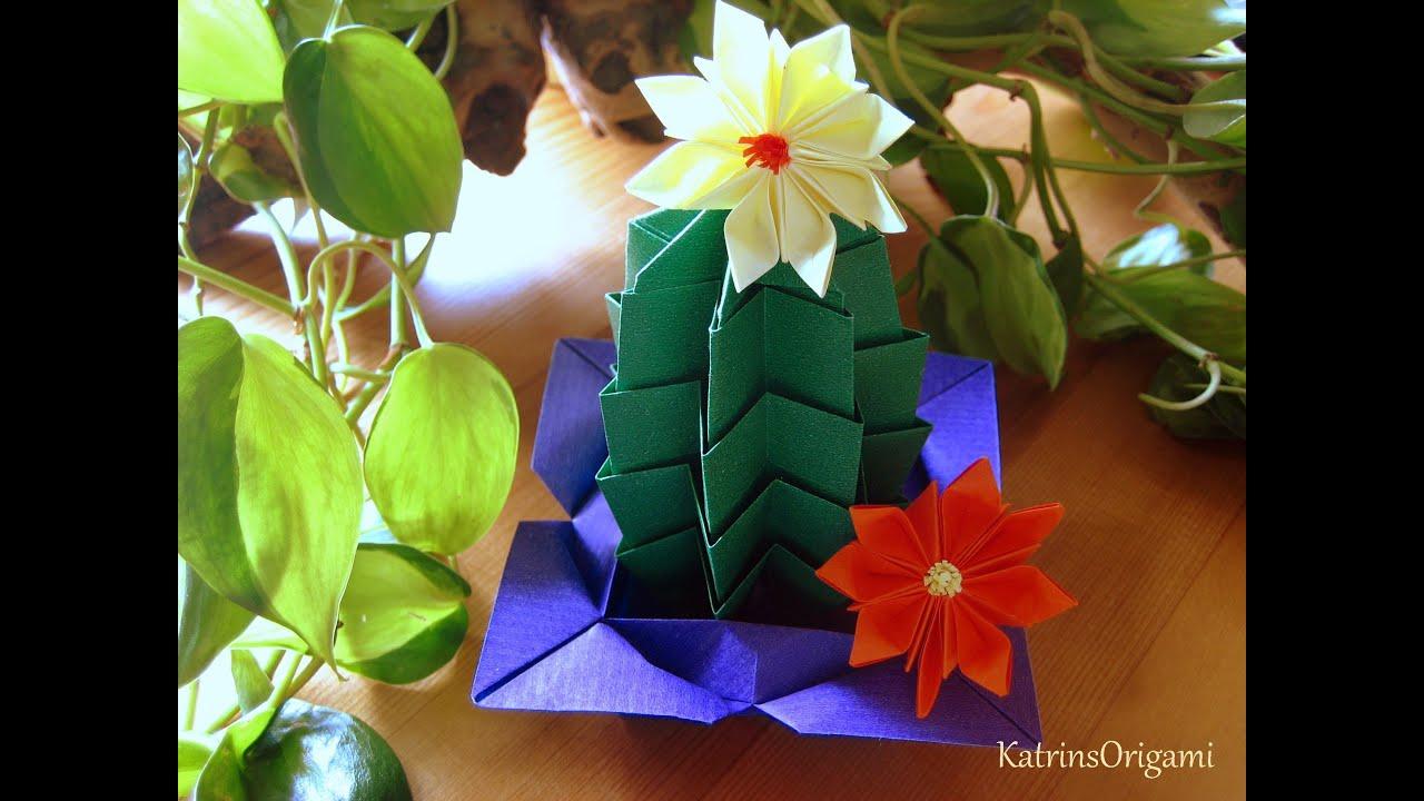 Origami Cactus YouTube