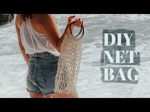 How To Make A NET Bag (knotted)