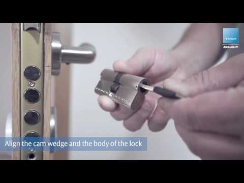 How to change the door cylinder – TESA ASSA ABLOY TK100