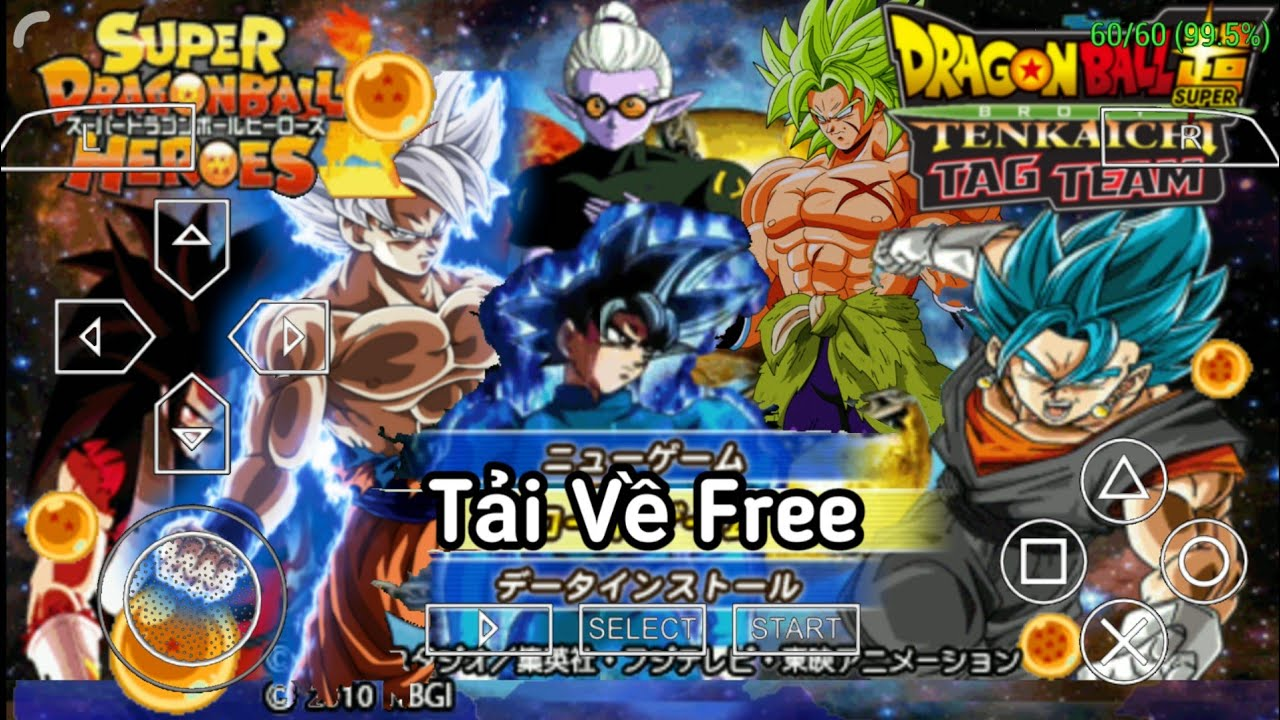 Cách tải game DRAGON BALL Z TENKENCHI TAG VS TEAM MOD SUPER BROLY V 14.