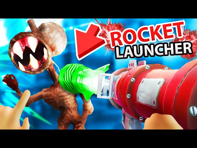 BABY BUILDS a ROCKET LAUNCHER to KILL SIREN HEAD!?!! (Baby Hands VR)