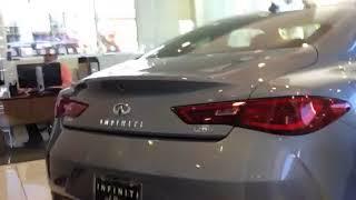 INFINITI Q 60 part 4 walk around demon review shown by hypnotic car salesman  at INFINITI OF