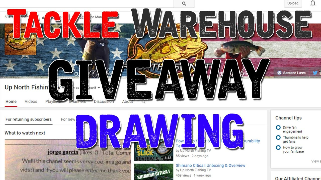 Tackle warehouse giveaway drawing youtube for Free fishing tackle giveaway