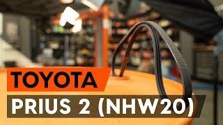 Como substituir Correia poly v PRIUS Hatchback (NHW20_) - manual vídeo passo-a-passo