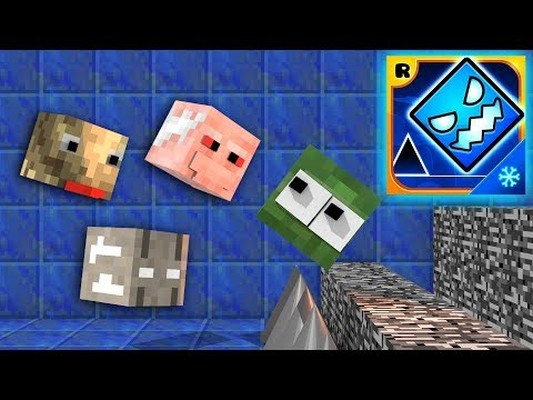 Monster School : GEOMETRY DASH SUBZERO CHALLENGE VS GRANNY,BALDI'S,GRANDPA - Minecraft Animation