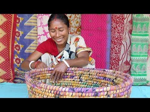 Recycled Saris from Bangladesh
