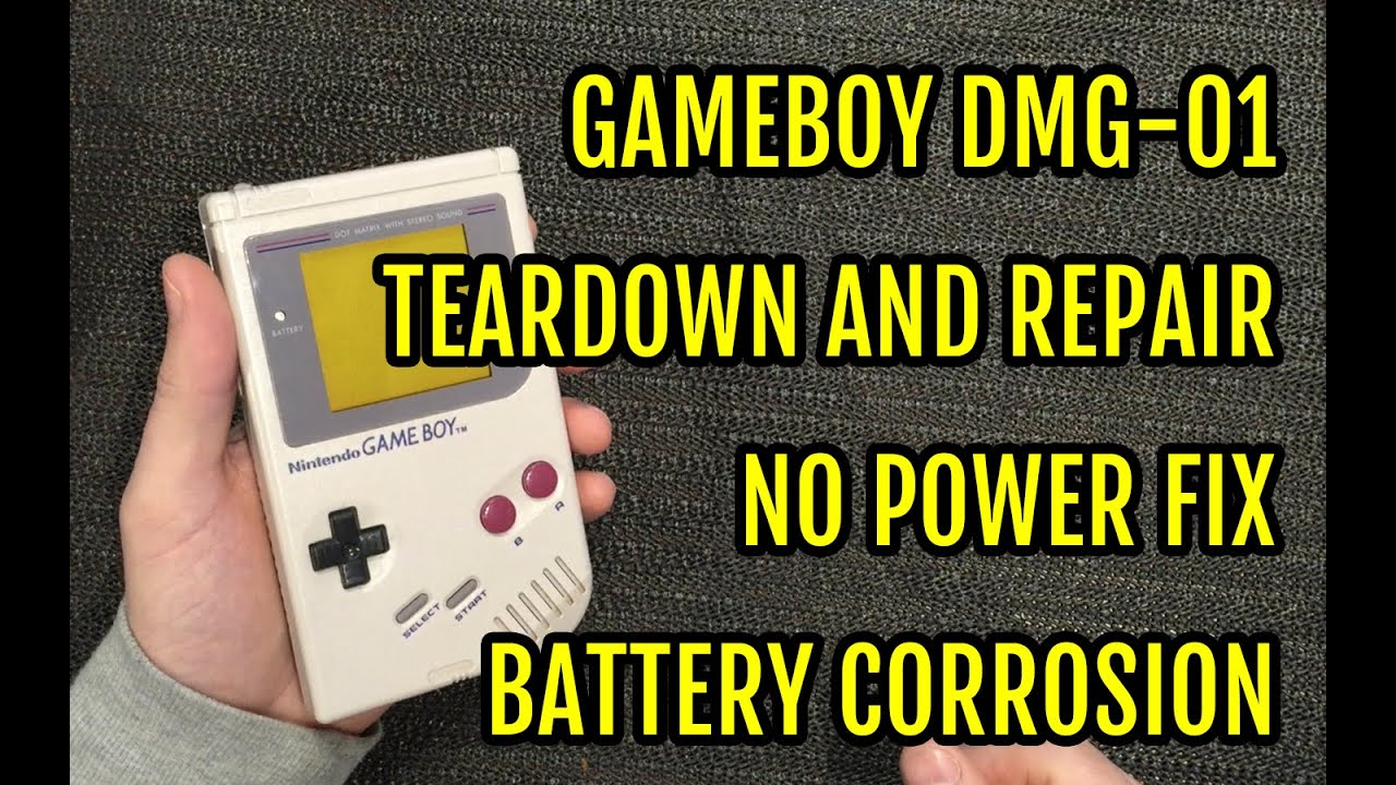 ea87222b671 Game Boy DMG Repair Teardown - No power fix - Battery contacts corrosion -  YouTube