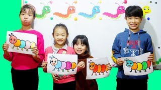 Hunter Kids Go To School Learn Colors BUG | Classroom Funny Nursery Rhymes