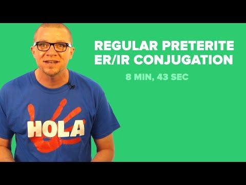 Spanish Past Tense:  Regular, Preterite ER/IR Conjugation