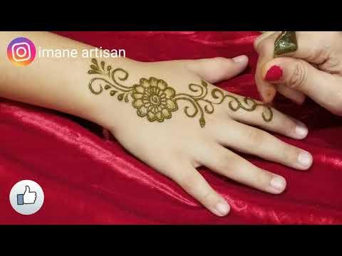 Henna Tutorial: Simple Henna/Mehendi Design for Beginer unique henna art