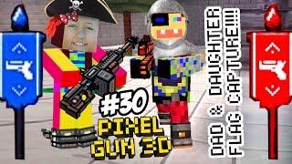 Dad & Lex play PIXEL GUN 3D! Pt. 30! CAPTURE THE FLAG - Lexi