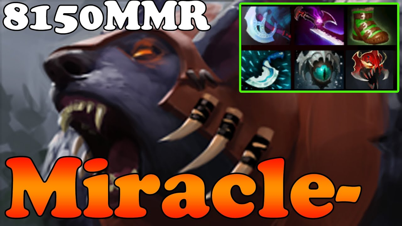 dota 2 miracle 8150mmr top 1 mmr in the world plays ursa