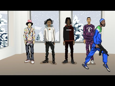 Смотреть клип Shoreline Mafia Ft. Q Da Fool - Gangstas & Sippas