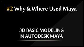 #2 Why & Where use Maya  Autodesk Maya 3d Modeling Tutorials