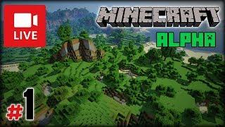 """[Archiwum] Live - Minecraft Alpha 1.2.0_02 (1) - [1/3] - """"Braki węgla i pierwsza noc"""""""