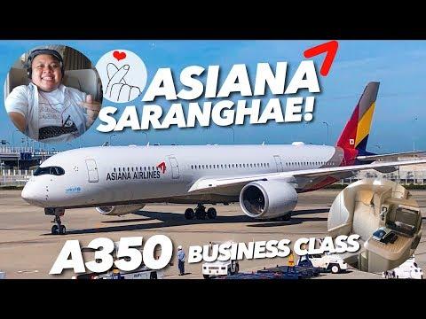 ASIANA AIRLINES A350-900 Business Class OZ111 Osaka To Seoul