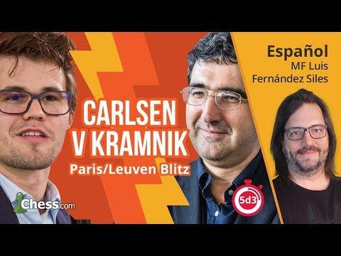 Ajedrez Comentado: Vladimir Kramnik vs Magnus Carlsen | Grand Chess Tour de Bélgica