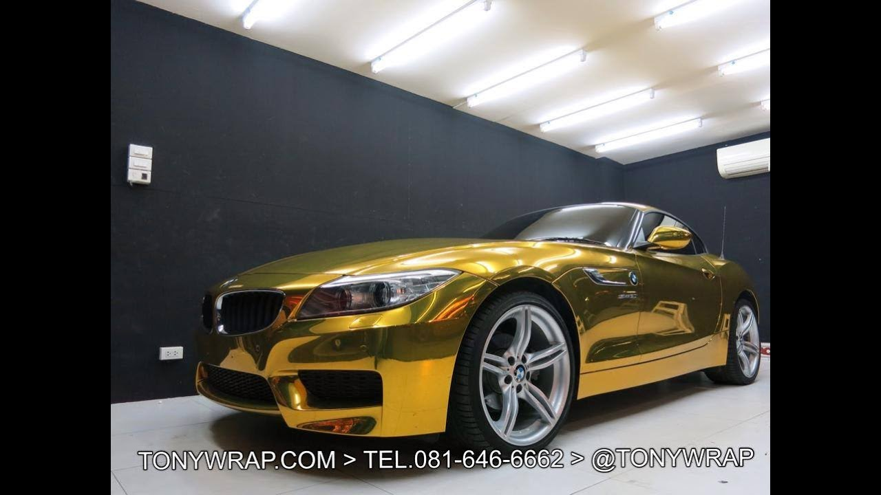 Z4 Gold Chrome Chromium 100 Mirror Face Reflection With No Blur Tony Wrap Supercar Society