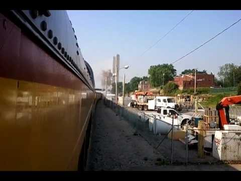 UP #844 Little Rock Express departing Cape Girardeau, MO