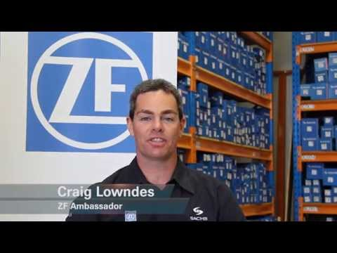 V8 Supercar star Craig Lowndes visits ZF Services in Perth