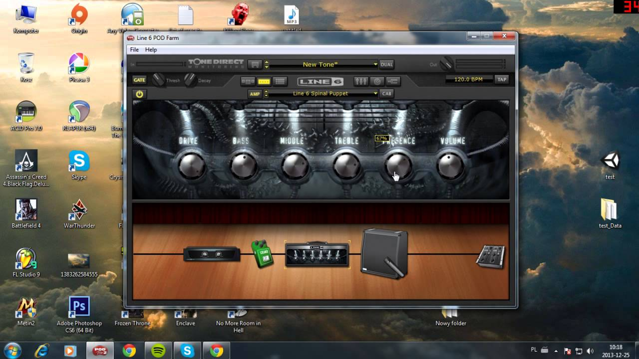 How to get Djent/Bulb/Misha Mansoor/Periphery tone #2 with Line 6 Pod Farm  + Download link HD