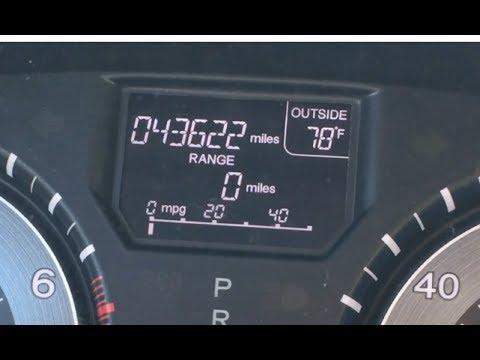 Van Has 0 Miles Left On Gauge
