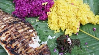 STICKY RICE with GRILLED FISH