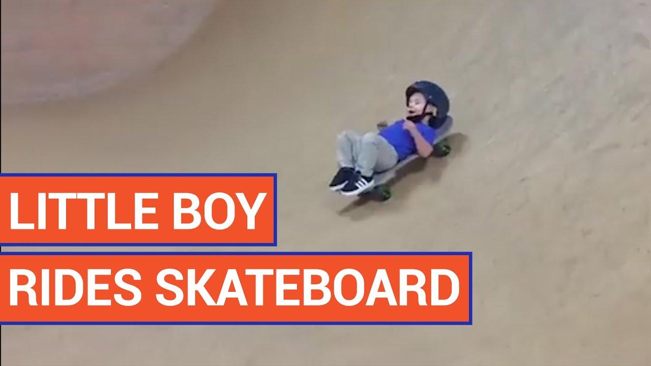 Adorable Little Boy Rides Skateboard | Daily Heart Beat