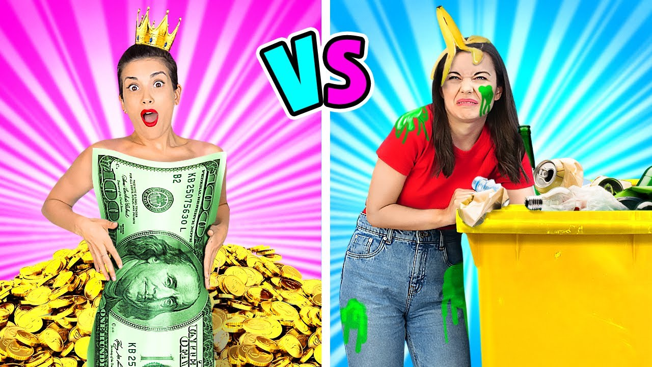 RICH vs BROKE Hacks || Smart DIY Ideas That Won't Cost You A Penny By 123GO Like