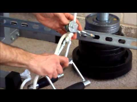 DIY Low Pulley Cable Row - YouTube