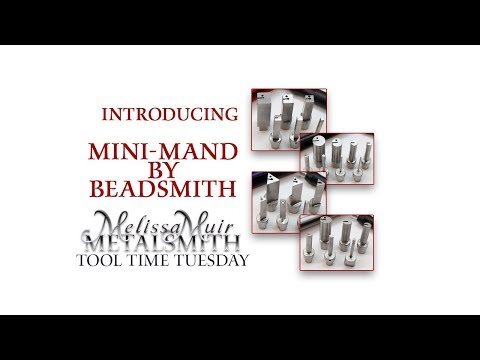 Mini Mand by  Beadsmith -  Shape and Cut Jumprings on the Mandrel