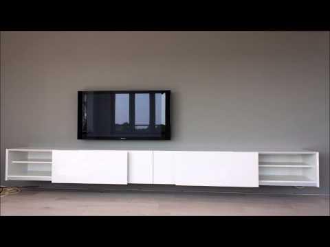 Ikea Tv Meubel Combinatie.Nasmaak Tv Meubel Galicia Hoogglans Wit 180 Cm Tv Meubel