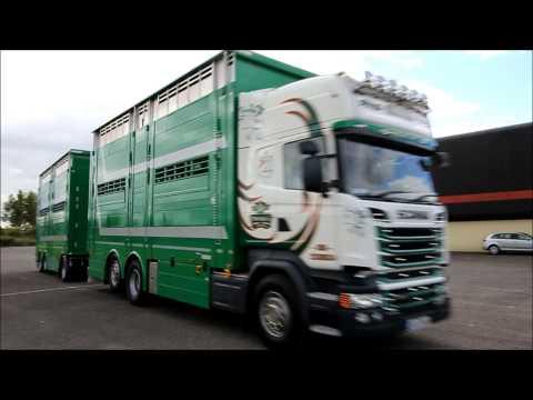 New Scania R580 with Pezzaioli Trailer & Body Twomey Livestock, Cork